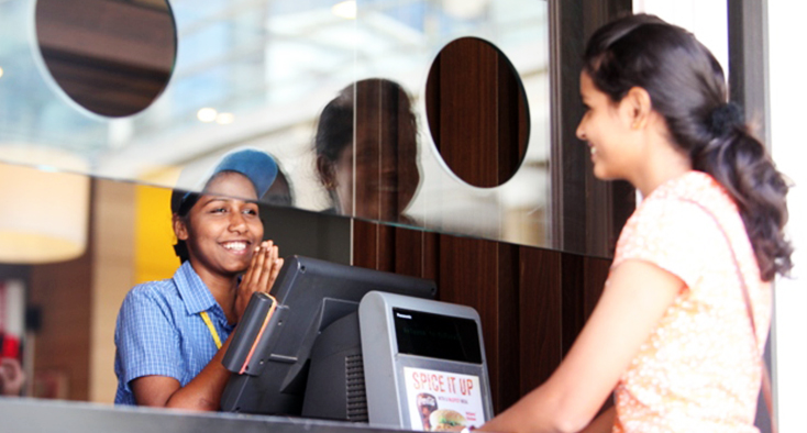 McDonald's Employees Smile