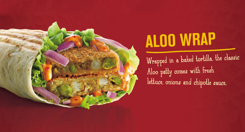 Aloo Wrap @ McDonald's