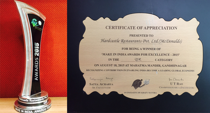 Make in India award