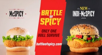 Spicy Menu McDonalds India