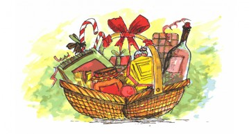 basket of treats for a foodie