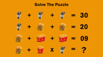 Can You Solve This McDonald's Maths Puzzle?