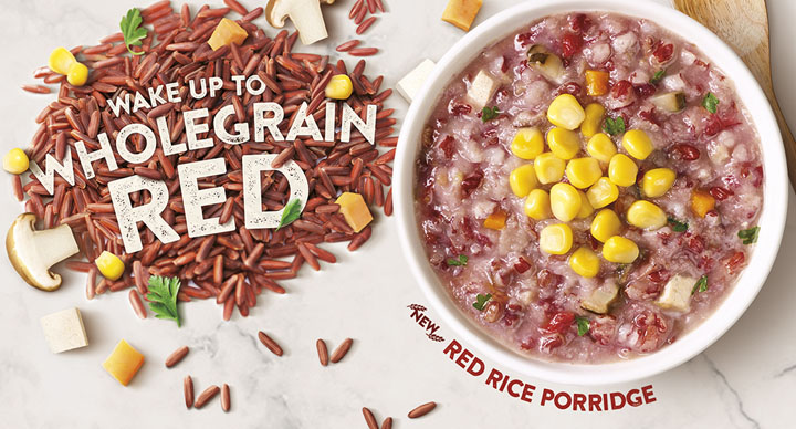 Red rice porridge in McDonald's Singapore