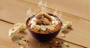 Cheesy Rice bowl at McDonalds
