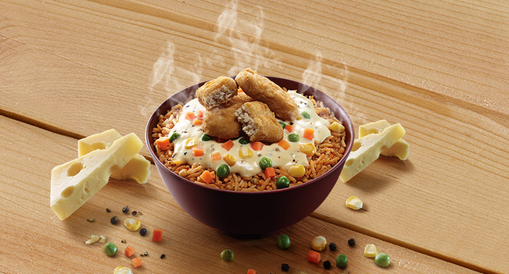 Cheesy Rice bowl at McDonalds