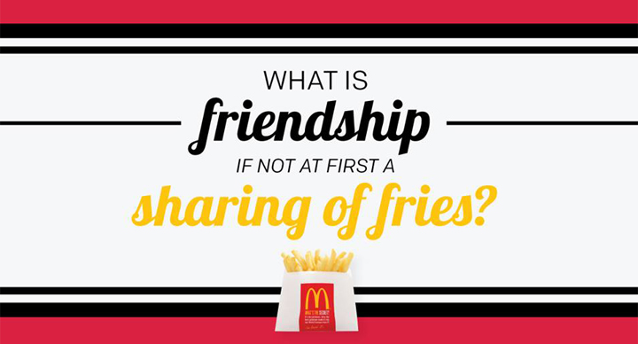 Sharing fries