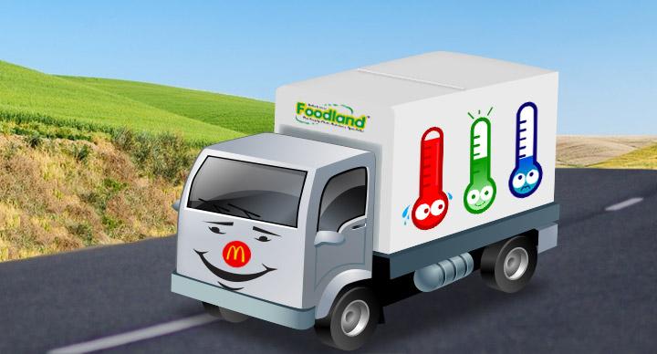 Multi-temperature trucks