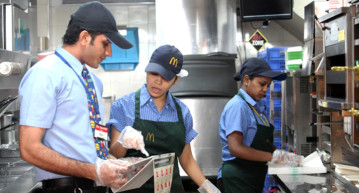 Employees at McDonald's India