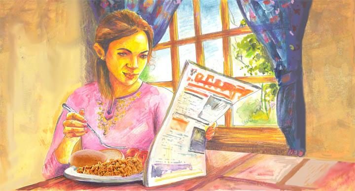 Breakfast at McDonalds India
