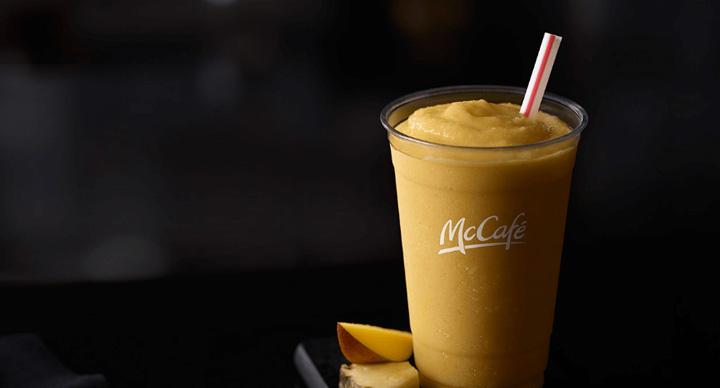 mango smoothie at McCafe