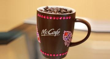 mcdafe celebrate coffee glitter mug