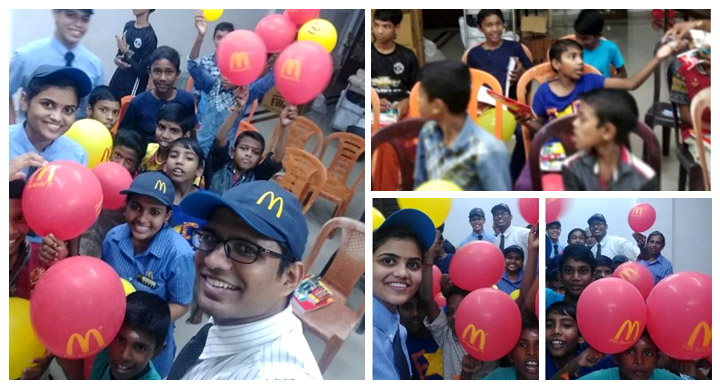 McDonald's India joy of giving