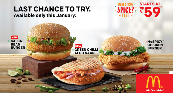 McDonalds India what's your spice fest 2018