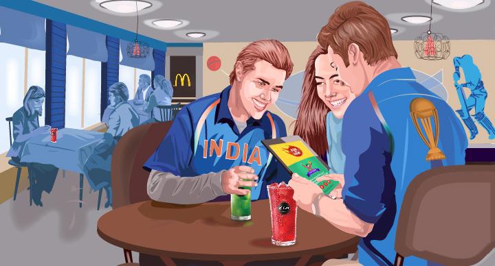 IPL game on McDonald's app
