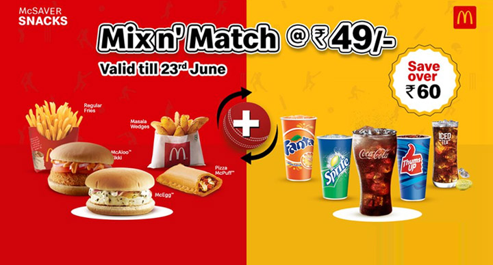 McDonald's mixn'match offer