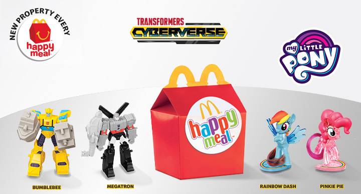 McDonald's happy meal transformers and my little pony