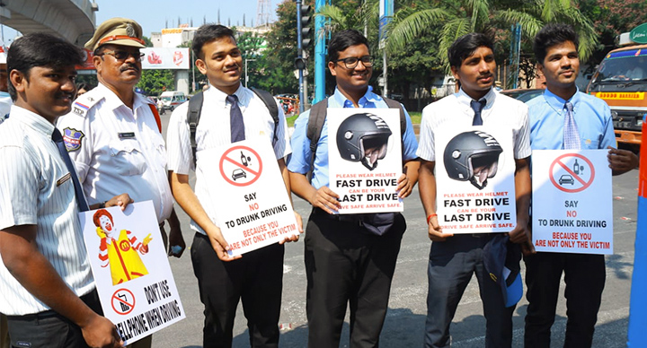 Raising Traffic Awareness in Hyderabad