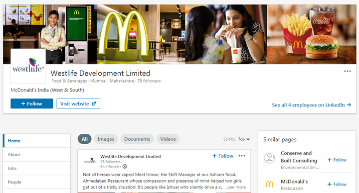McDonald's LinkedIn Stories