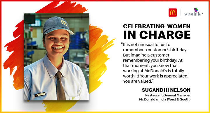 Sugandhi McDonald's women employee