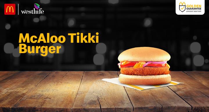 McDonald's Mcaloo Tikki Burger
